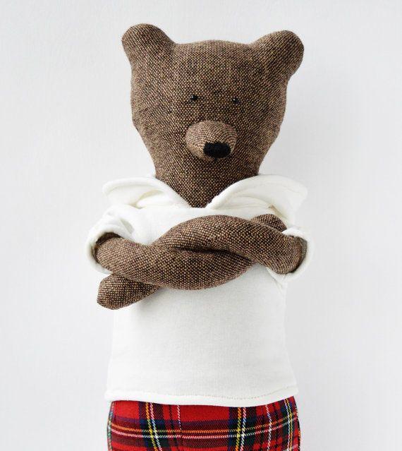 Tony The Bear. Ptimitive teddy Bear. Child by PhilomenaKloss