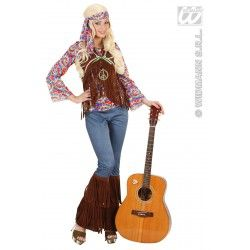 Disfraz de Hippie Psicodelico para Mujer