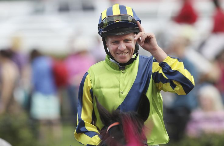 Kerrin McEvoy after winning the Turnbull Stakes on Lucia Valentina