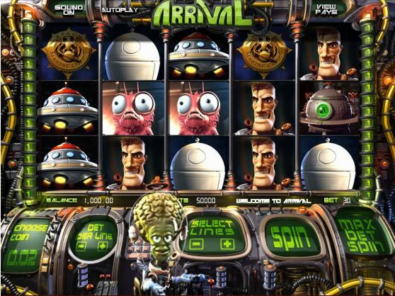 Play Arrival, a 3D Slot Machine @ Sweet Bet