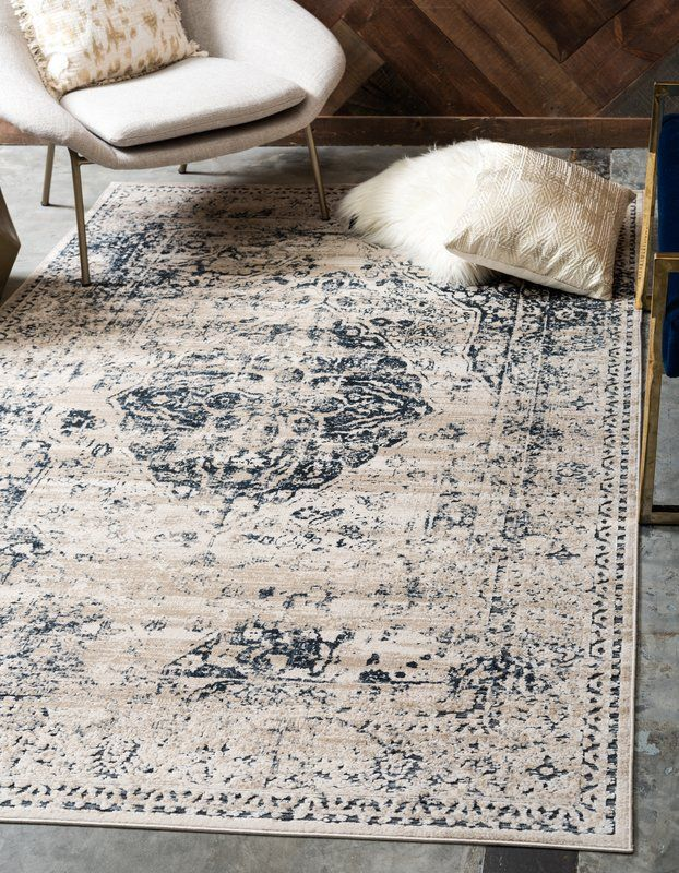 Abbeville Oriental Biege Area Rug With Images Area Rugs Blue