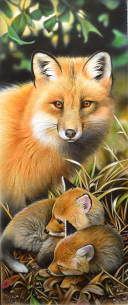 FOX AND KITS BY JERRY GADAMUS