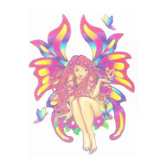Fairy temporary tattoo design art. These temp tattoos are great for parties, events, venues, festivals and much more. All our temporary tattoos are FDA approved and are created with vegetable dyes. They are applied on easily with water and can last up to 2 weeks. They can also be taken off easily with tape or rubbing alcohol.    We carry the best and greatest temporary tattoos and tattoo design art online. Our stock temp tattoos can be purchased online and include designs such as tribal…
