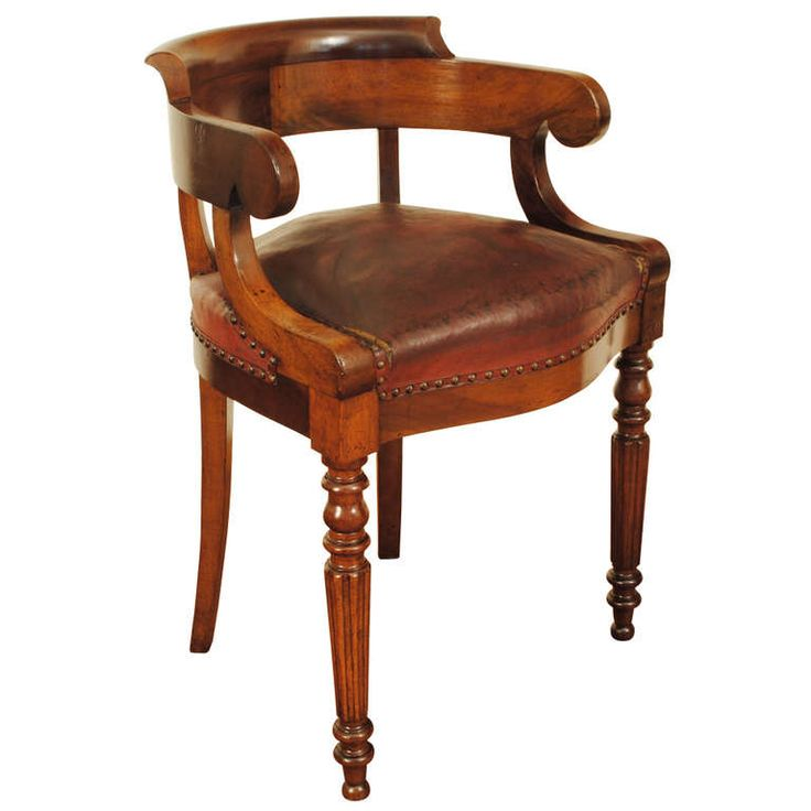 1stdibs an unusually tall walnut louis philippe leather upholstered desk chair