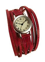 Red String Theory Wrist Watch: Gaucho Watches, Style, Wrist Watches, Tokyobay Gaucho, Theory Wrist, Red String, String Theory, Leather Wraps Watches, Leather Bracelets