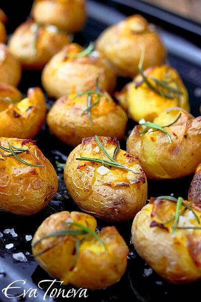 roasted new potatoes w/ sea salt and rosemary