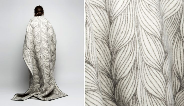 Naturpledd blankets by Kristine Five Melvaer from Røros Tweed, launched May 2015 at ICFF, where they earned an Editors Award for best textile.
