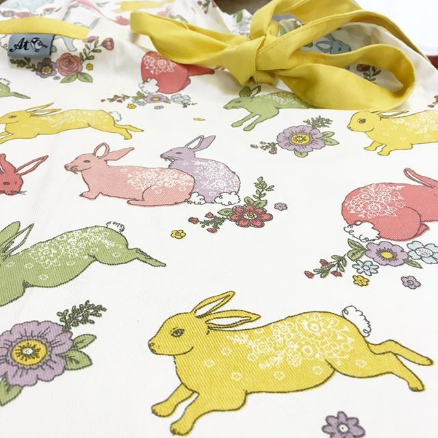 Have you spotted my bunny collection for @debenhams ? hopping their way over to stores across the uk now. #ashleythomas #debenhams #easter #pinny