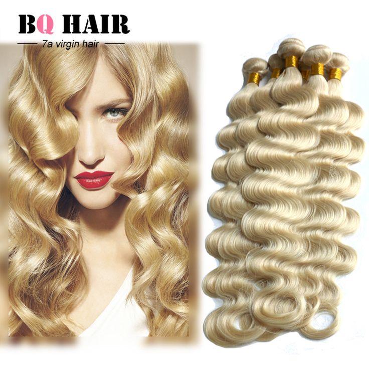BQ Hair Products Peruvian Hair Weave Bundles Mink 7a Unprocessed Virgin Hair Perivian 613 Blonde Hair 4 bundles
