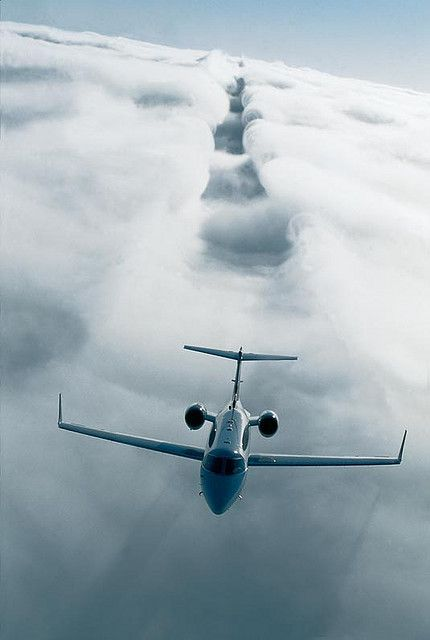 Private Jets for more aircraft and charter jet images  Exterior Learjet 40 XR Exterior Cloud Image