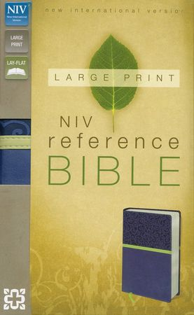 NIV Reference Bible, Largeprint, Blueberry/Melon Green Duo-Tone