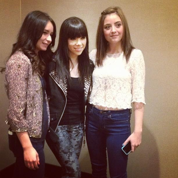 Carly Rae Jepsen in another gorgeous custom Parasuco jacket featuring Swarovski Crystals!