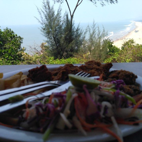 The view and food. #Gokarna #Zostel #Travelogue