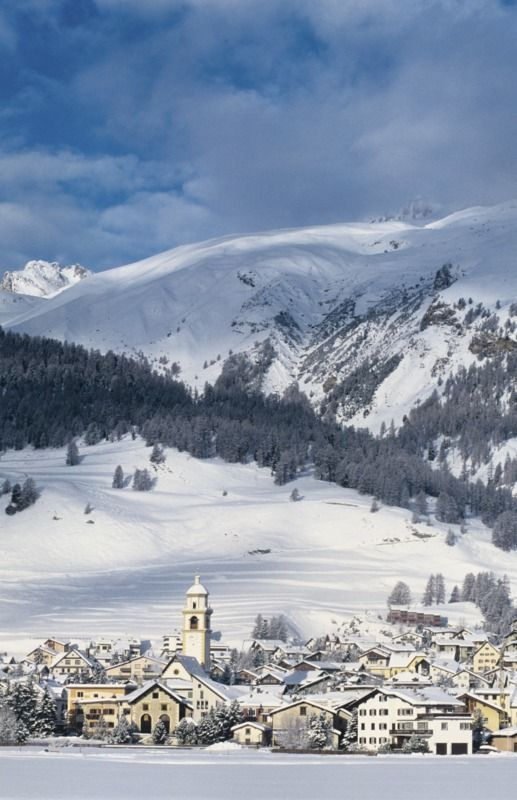 St. Moritz is one of the most elite and expensive ski resorts in the world, and for a good reason – the highest mountain in the Eastern Alps, Piz Bernina (4,049 m), lies just a few kilometers to the south of the town. St. Moritz, Switzerland http://wp.me/p4LjJr-jD