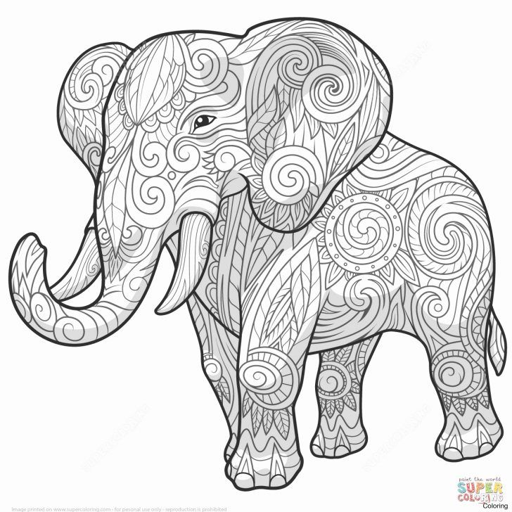 Elephant Adult Coloring Pages Elephant Mandala Coloring Pages