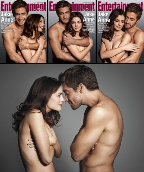 Jake Gyllenhaal and Anne Hathaway. Awe:) a relationship like this...or i could just have Jake Gyllenhaal