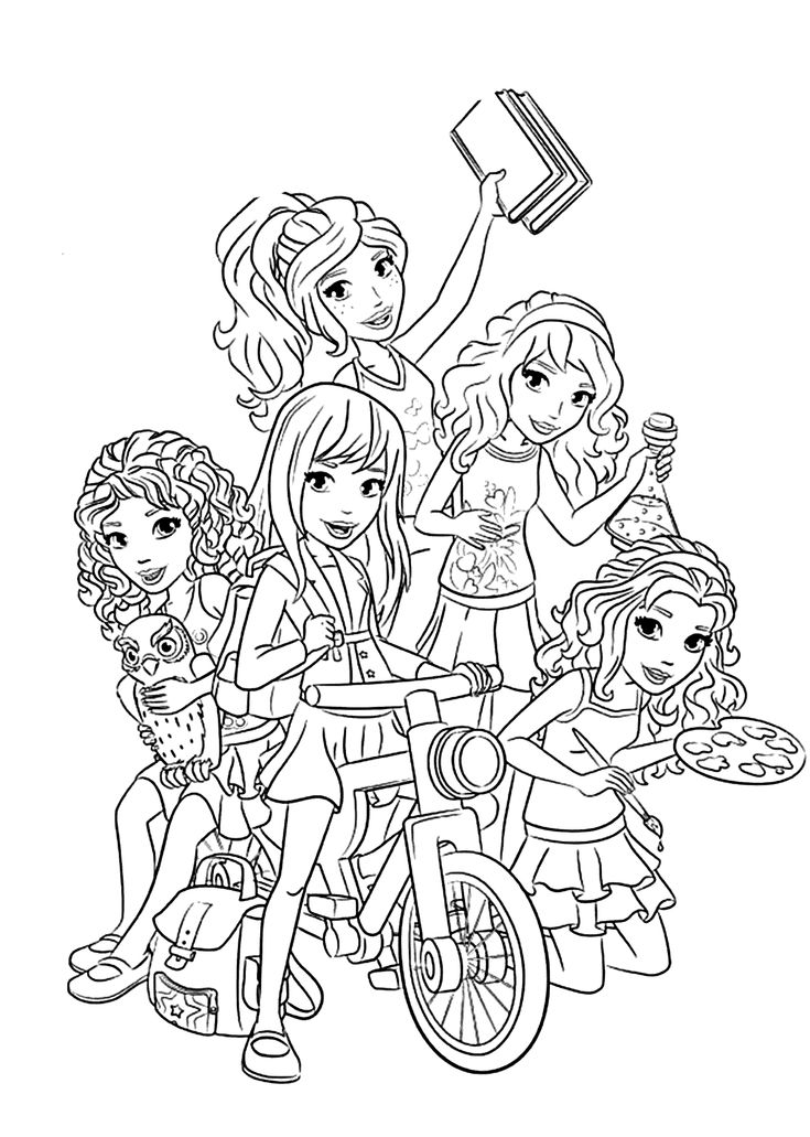 Lego Friends all coloring page