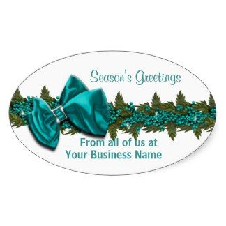 Christmas business greeting PERSONALIZE Stickers