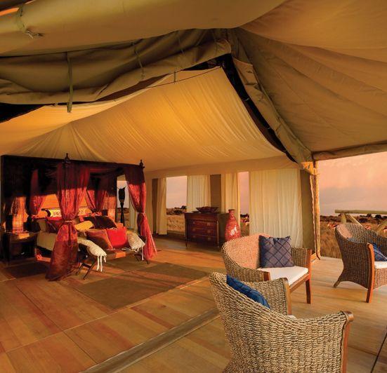 Jama Luxury Tent Interior