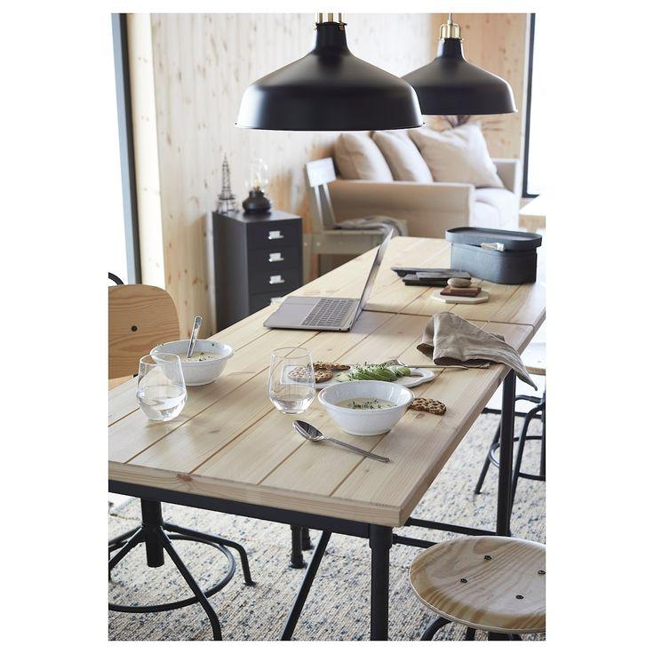Ikea kullaberg pine black desk study table designs