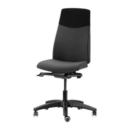 VOLMAR Cadeira giratória - Lehult cinz/pret, - - IKEA