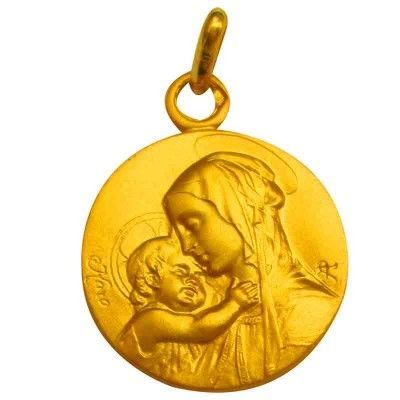 Médaille Vierge à l'Enfant de Botticelli (plaqué or)