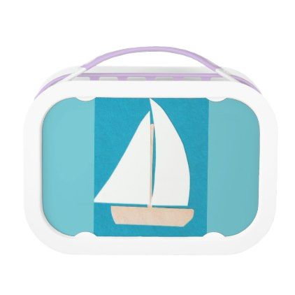 #Lunch Box with Sailboat Design - #travel #trip #journey #tour #voyage #vacationtrip #vaction #traveling #travelling #gifts #giftideas #idea