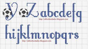 alfabeto com bola de futebol Y, Z e minusculas a ao s