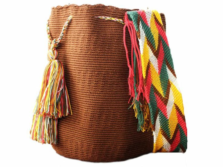 Brown Wayuu Mochila #mochila #wayuu #unicolor