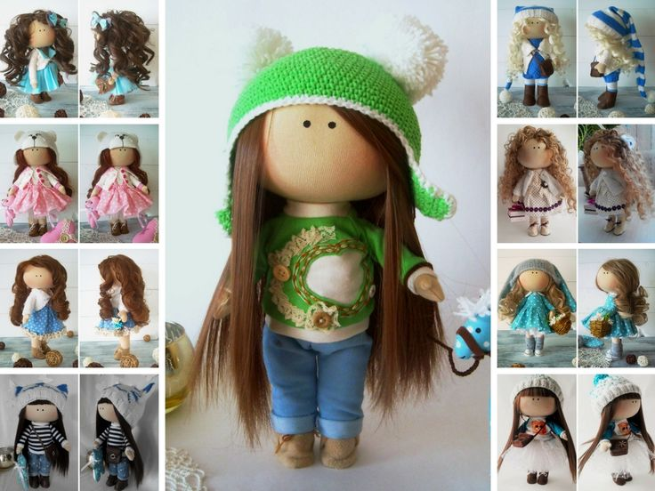 Hello, dear visitors!    This is handmade soft doll created by Master Olga Gn (Ulyanovsk, Russia).    Doll is 30 cm (11.8 inch) tall.    Please, note: dry clean only. Dolls and toys do not contain any timber or metal frames inside.    Such dolls and toys can be great present for your beloved people.  Besides, our dolls perfectly fit home decor and interior decoration: nursery, bedroom etc.    Dolls and toyas are made TO ORDER.  You will receive almost exact same toy. Changes are made upon…