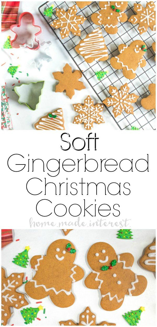 Soft Gingerbread Cookies | This soft gingerbread cookies recipe is a traditional gingerbread cookie that can be used for making gingerbread houses or a delicious gingerbread man. This gingerbread cookie recipe is a gingerbread cut-out cookie recipe that is perfect for Christmas dessert! AD #christmascookies  #christmasrecipes #gingerbread #cookies