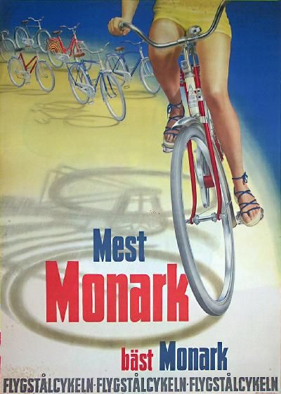 Monark - Bicycle Poster 50-tal