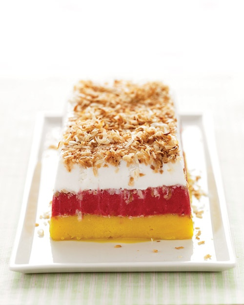 Tropical Sorbet Terrine - Simple and delicious!