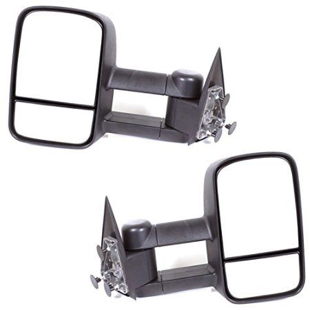 ECCPP Black Manual Telescoping Tow Towing Mirrors Side View Mirror Pair Set for 1999-2006 Chevy Silverado/ GMC Sierra Pickup all models; 2007 Chevy Silverado classic/ GMC Sierra(old model); 2000-2006 Chevy Tahoe/Suburban/ GMC Yukon Yukon XL; 2002-2006 Chevy Avalanche (050257)