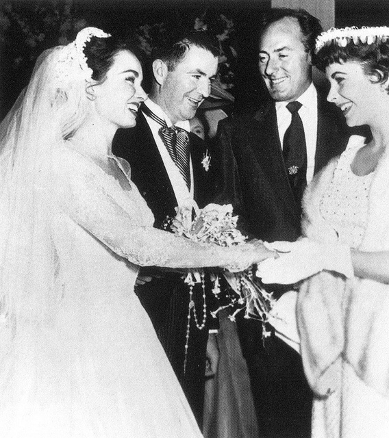 Actress Ann Blyth married Dr. James McNultyin 1953. Michael Wilding and Elizabeth Taylor were among the guests.