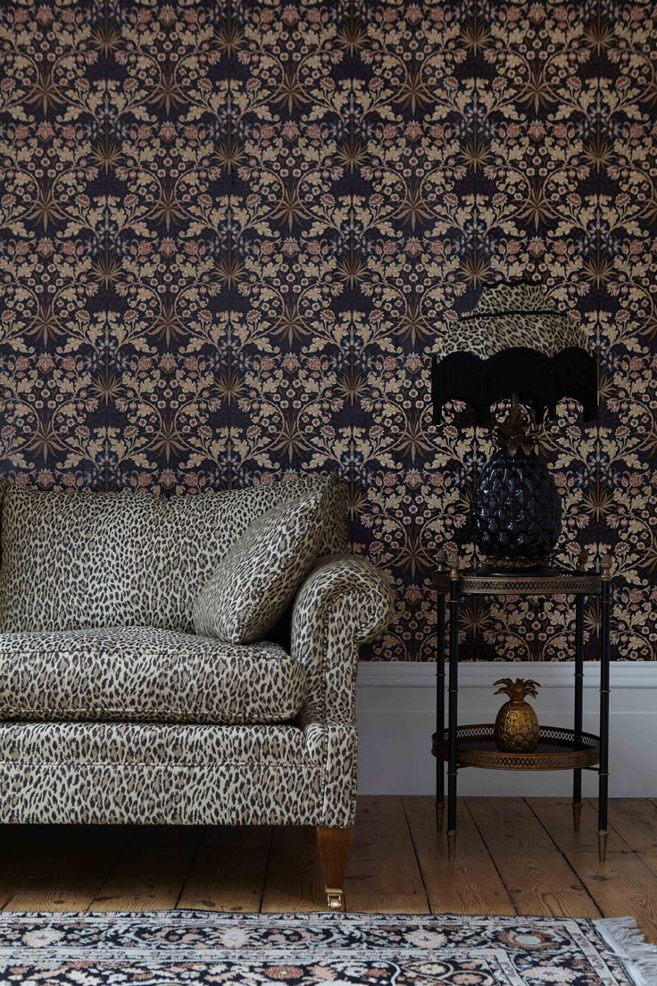 Part of the HOUSE OF HACKNEY x WILLIAM MORRIS AW15 collection: Hyacinth Black Wallpaper http://www.houseofhackney.com/hyacinth-wallpaper-black.html