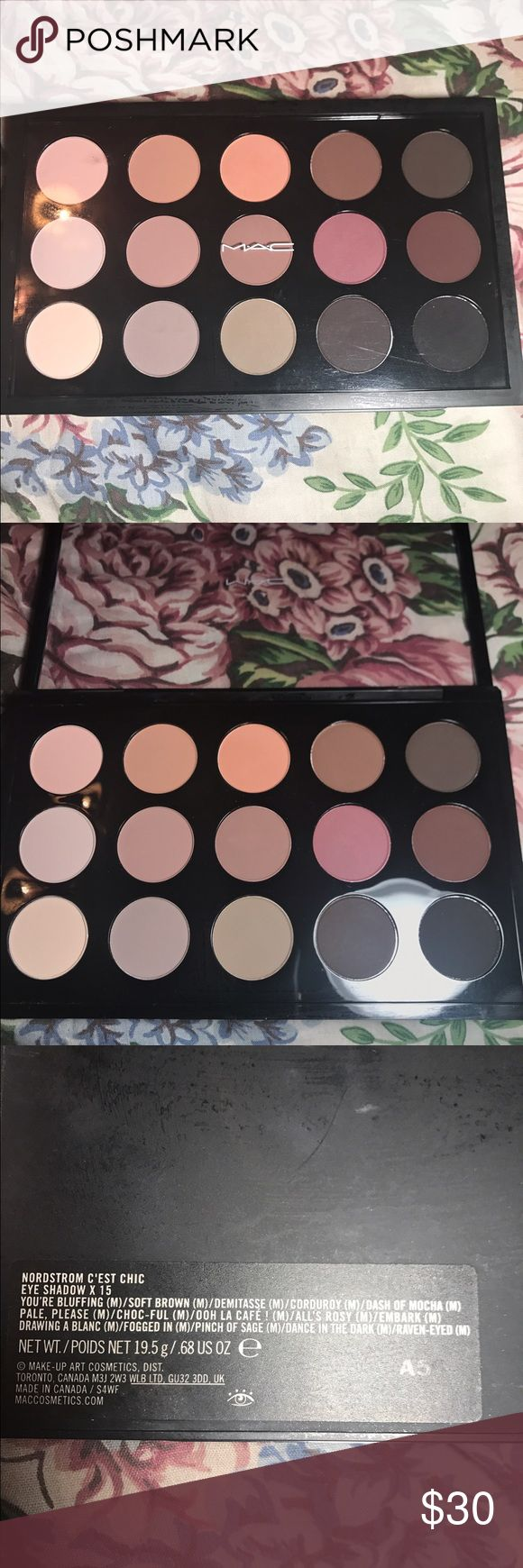 MAC Eyeshadow Palette SWATCHED. Nordstrom Exclusive. Beautiful colors! Last picture is not this palette, it's just for price verification. MAC Cosmetics Makeup Eyeshadow