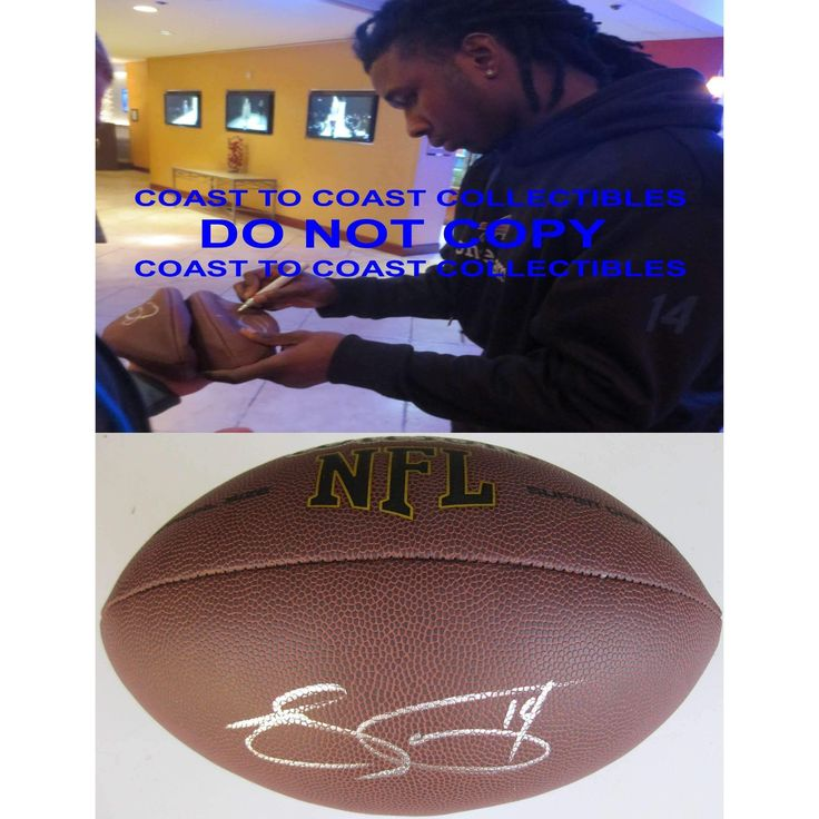 Sammy Watkins, Buffalo Bills, Clemson, Signed, Autographed, NFL Football, a Coa with the Proof Photo of Sammy Signing Will Be Included with the Football