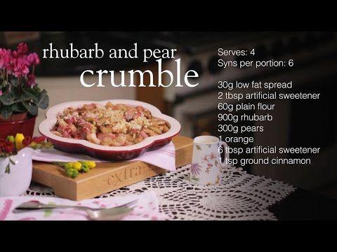 Rhubarb and pear crumble - Recipes - Slimming World