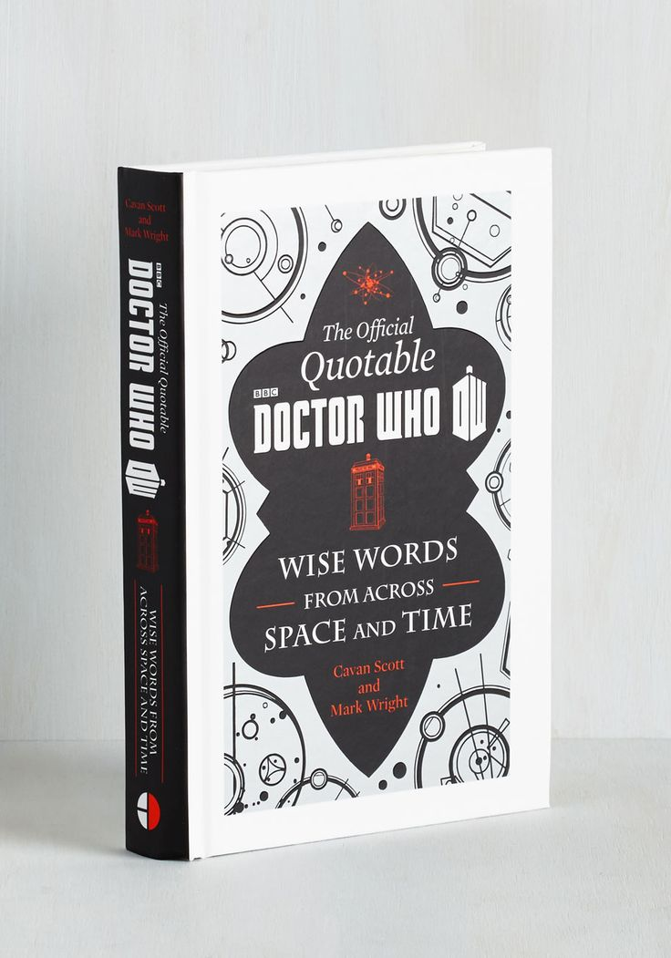 The Official Quotable Doctor Who. It doesnt take a die hard Whovian to fall into the quote continuum inside of this hardback book! #multi #modcloth