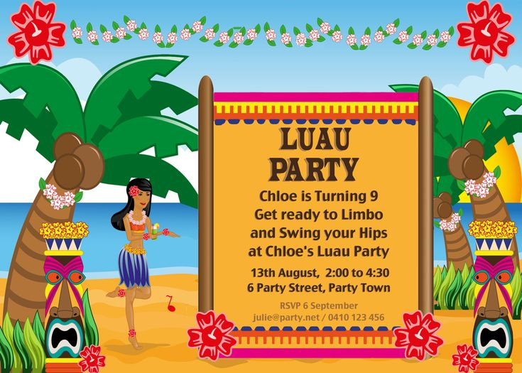 best 20+ hawaiian party invitation ideas on pinterest—no signup, Party invitations