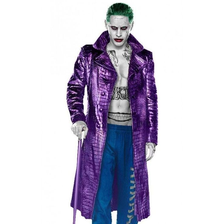 Suicide Squad Leather Jacket | http://www.bikerleatherjacketus.com/product/suicide-squad-jared-leto-joker-leather-coat-crocodile-texture/