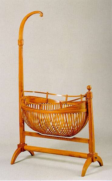 1820 Baby Cradle Southern Germany Cherry Wood