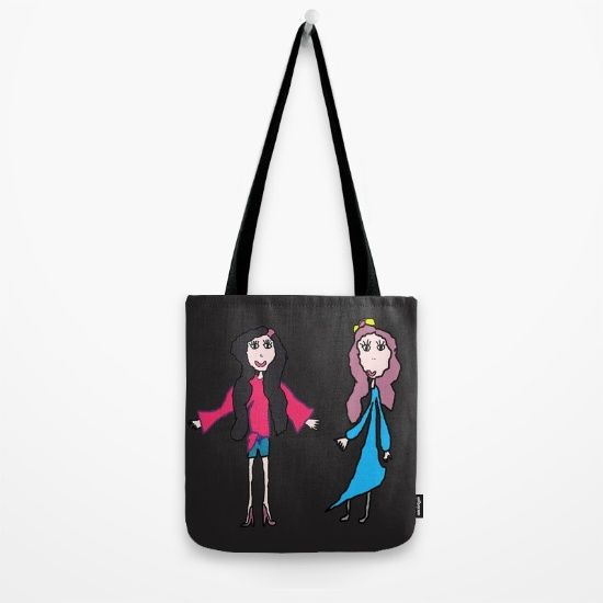 Lalala   Elisavet and Sofia Tote Bag by Azima #popart #pop #walldecoration #society6 #society6deco #love #cute #kids #painting #hugs #lovers #yoga #decoracion #up https://society6.com/product/lalala-elisavet-and-sofia_bag?curator=azima
