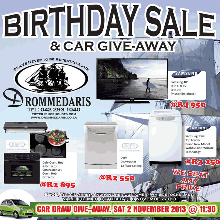 #drommedaris birthday specials