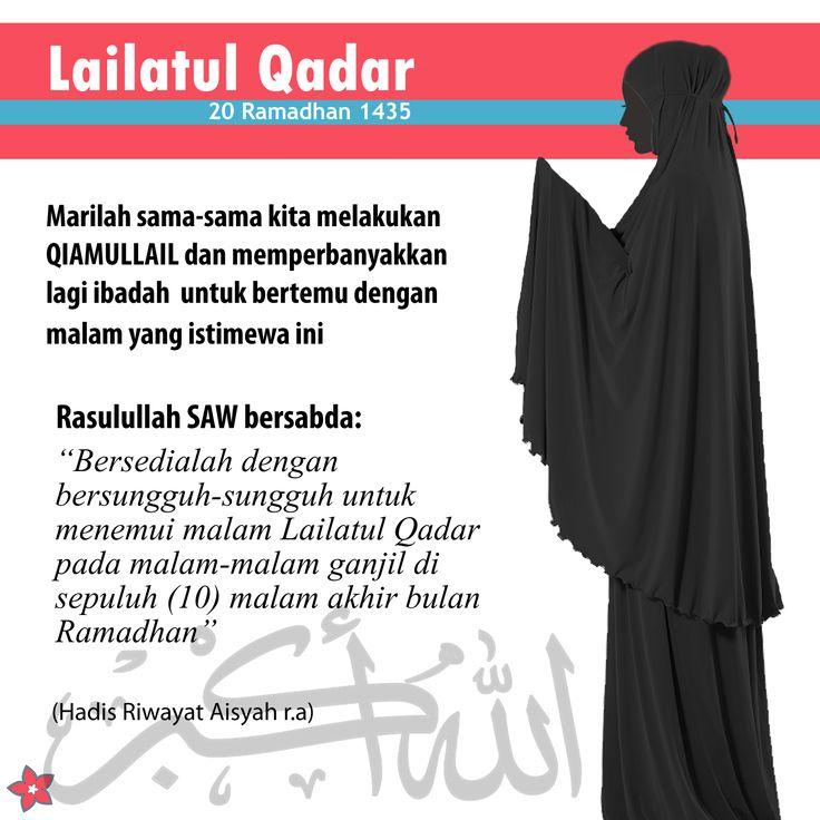 Kerana tidak diketahui bila Lailatul Qadar, maka sama-samalah kita semua LEBIH perbanyakkan amal ibadah pada 10 malam terakhir bulan Ramadhan. Semoga segala ibadah kita di terima oleh Allah. Amin.. #lailatulqadar #ramadhan2014 #ibadah #doa #amalan #nashata #puasa #qiamullail