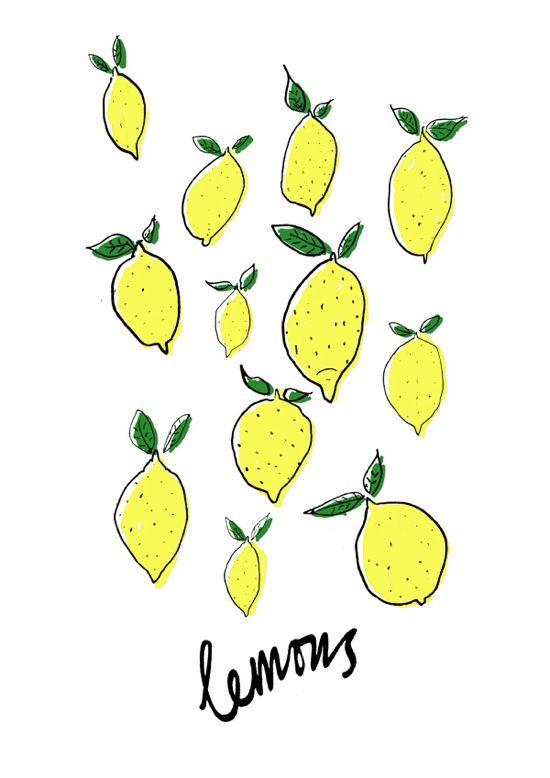 lemons, perfectly illustrated