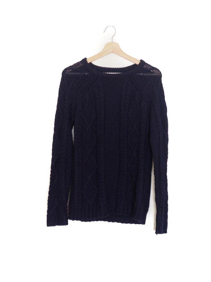 Jersey lana, azul marino, Otoño Invierno, Pull&Bear Wood sweater, navy, Autumn Winter