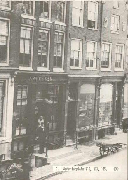 Waterlooplein 111-115 in 1901