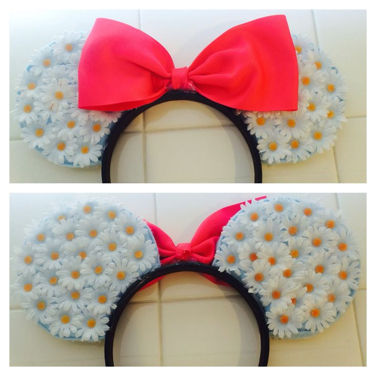 Original daisy floral DIY Mickey ears design